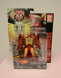 Transformers Titans Return Hot Rod w Firedrive Deluxe Class Hasbro   $19.99
