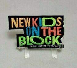 Vintage New Kids On The Block Embroidered Iron On Patch 3 1 2quot;x 2quot; 1989 Velvet $6.45