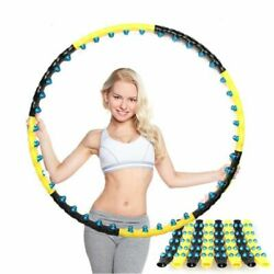 Magnetic Hula Hoop Detachable 7 8 Part Double Row Fitness Massage Exercise Sport $58.99