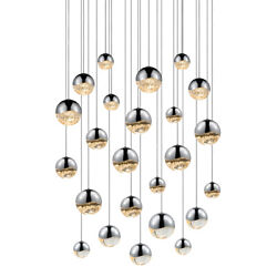 Sonneman 2918.01-AST Grapes Round Assorted LED Pendant In Polished Chrome