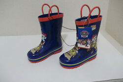 NEW BOYS NICKELODEON PAW PATROL BLUE RED WATERPROOF RUBBER RAIN BOOTS $10.49