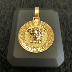 18kt Yellow Gold Medusa Pendant - One of a kind Custom made