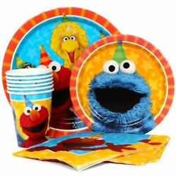 Sesame Street Elmo Birthday Party Express Pack for 8 Guest Cup Napkin amp; Plates $10.95