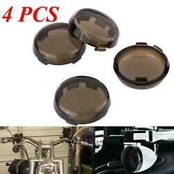 4X  Smoke Turn Signal Lens Cover Fit For 86-17 Harley Dyna Softail Sportster gb $9.99