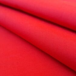 RED POLY COTTON FABRIC 58quot; BY THE YARD SOLID COLOR RED FABRIC $6.50