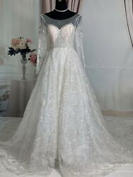 Ballluxury Bling Ballgown&Mermaid Wedding Dress In One Dress Dize 2-4