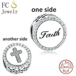 PANDORA FAITH CROSS Charm 100% Sterling Silver S925 with Pandora Pouch $23.99