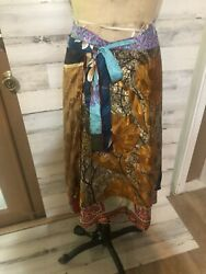 EUC. WRAP AROUND Skirt. BY DORI STYLE.Very  Colorful And Is Reversible. One-size $18.75