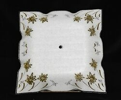 VINTAGE MCM MID CENTURY MODERN GLASS CEILING LAMP SHADE COVER $34.99