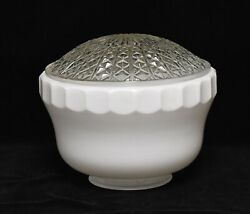 VINTAGE RETRO LARGE GLASS CEILING LAMP SHADE COVER $34.99