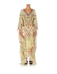 CAMILLA FRANKS MY SUMMER LOVE SPLIT FRONT AND SLEEVE KAFTAN DRESS GOWN $416.06