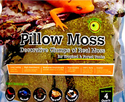 Tropical amp; Forest Terrarium Tank Soft Pillow Moss 4 Quarts Green Amphibian Moss $9.99