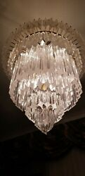 VINTAGE MID 1960's CAMER MURANO  VENINI   APPROX 180 GLASS CRYSTAL CHANDELIER