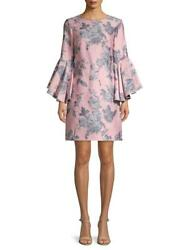 NWT $209 BELL BADGLEY MISCHKA PINK SLATE JACQUARD COCKTAIL WOMEN#x27;S DRESS SIZE 2 $74.99