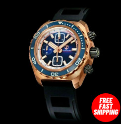✅ ZELOS HAMMERHEAD CHRONO BRONZE MIDNIGHT BLUE INTERNATIONAL SHIPPING 🇺🇸DEALER $1,299.00