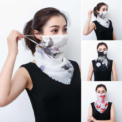 Soft Face Scarf Reusable Hanging Ear Scarf Windproof Chiffon Anti Dust Casual . $10.57