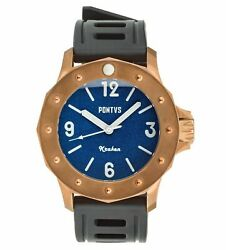 ✅ PONTVS KRAKEN BLUE BRONZE DIVER+NATO STRAP INTERNATIONAL SHIPPING 🇺🇸 DEALER $425.00