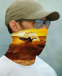 SUN GAITER Mask Bandana UPF 50+ UV Protect Surfing Beach Ocean Sunset Face Neck $14.99