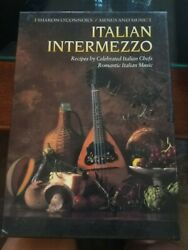 quot;Italian Intermezzoquot; Recipe Book by Italian Chefs and Romantic Italian Music CD $7.50