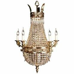 Chandelier With Crystals IN Biedermeier Style