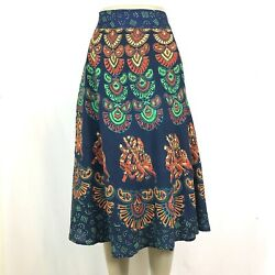 Indian Mandala Boho Hippie Printed Wrap Around Skirt Rayon GREEN $15.99