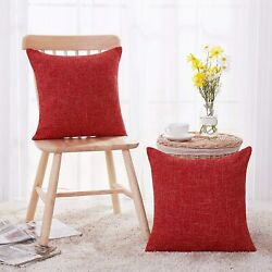 Deconovo Hand Made Linen Look Throw Pillow Covers Cushion Cover for Couch Chair  $18.95
