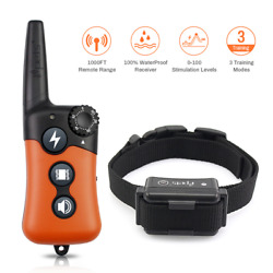Dog Training Collar Rechargeable LCD Remote Shock Control Waterproof 330 Yard $34.99