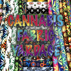 New Cannabis Printed Canvas Waterproof Outdoor Fabric 59