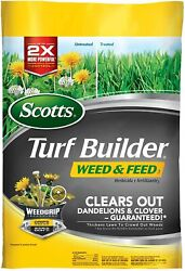 Lawn Fertilizer and Weed Killer Turf Builder Weed And Feed 3 5000 Sq. Ft. $30.44