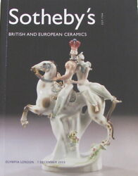 SOTHEBY'S British and European Ceramics – Meissen Le Carnaval $7.95