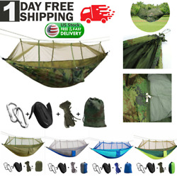 Camping Double Hammock with Mosquito Net Outdoor Garden Hanging Bed Swing Chair $23.99