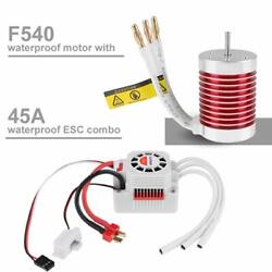F540 4370KV Brushless Motor With ESC for 1:10 RC Car/Truck Strong 4 Pole $40.18