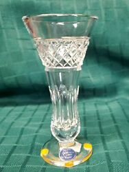 Thomas James Crystal Vase 6quot; NOS $35.00