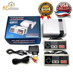 Mini Retro Game Anniversary Edition Console 620 Nintendo Built In With Av Output $25.99