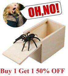 Wooden Prank Spider Scare Box Hidden in Case Trick Play Joke Scarebox Gag Toy $6.99