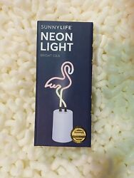 SUNNY LIFE Flamingo Neon Light Small bedroom mood light Neon Beautiful $18.00