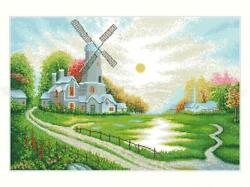 DIY BIG PAINTING Bead Embroidery Kit Needlepoint beadwork summer nature mill $83.33