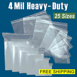 Assorted Clear 4-Mil Ziplock Bags HEAVY-DUTY Reclosable Plastic Zip Lock Baggies $24.20