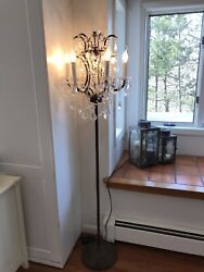 Restoration Hardware 19th Century Chandelier Floor Lamp