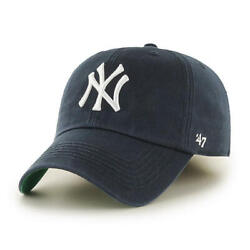 New York Yankees '47 Brand Navy Blue Fitted Franchise Hat $31.99