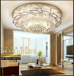K9 Crystal Chandelier Ceiling Light Flush Mount Luxury Modern Pendant Lighting