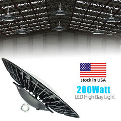 LED High Bay 200W Warehouse Shop Commercial Light Fixture Super Bright 200W