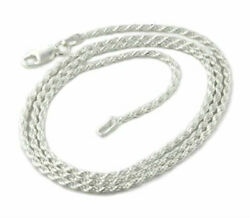 Silver Sterling Rope Chain Necklace Diamond Cut 925 Solid Italy New Real Silver $19.99