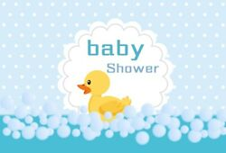 6x4Ft Baby Show Blue Duck Photography Backgrounds Banner Vinyl Backdrops $11.35