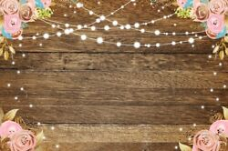 6x4Ft Brown Wood Plank Flowers Photography Backgrounds Banner Vinyl Backdrops $11.35