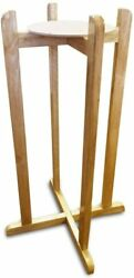 Aquanation Floor Wood Stand Natural Varnish 27quot; for Water Crock Bottle amp; Plants $50.99