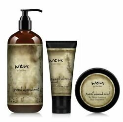 Wen Sweet Almond Mint Set Cleansing Conditioner Styling Creme Hair Treatment New $39.99