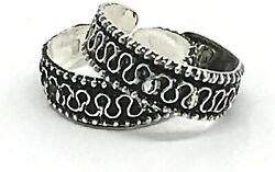 925 Sterling Silver Toe rings Antique Styles $11.95