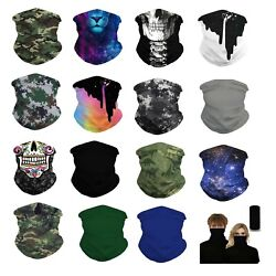 (2 Pack Set) Neck Gaiter Neckerchief Bandanna Headband Face bike Mask  $9.99