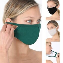 Soft Cotton Face Mask Double Layer Fashionable Reusable Cloth Washable Men Women $6.95